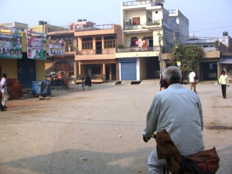 Takiya Chowk o piata din satul Burari